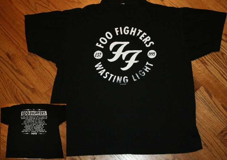 Foo Fighters Wasting Light 2011 concert tour T-Shirt Men's X-Large XL #GraphicTee