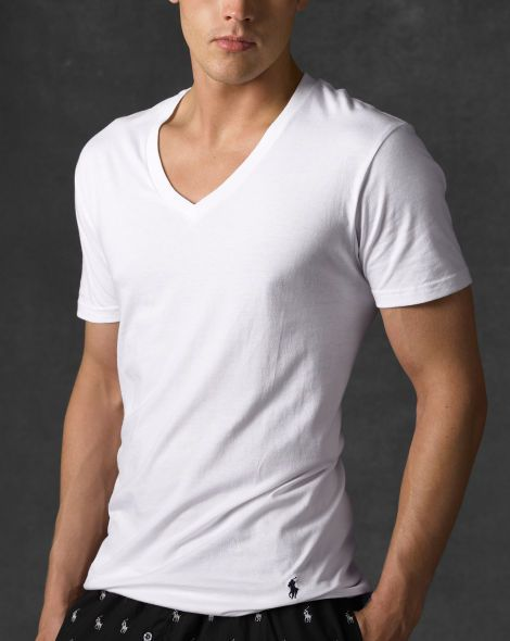 Classic V-Neck Three-Pack - Polo Ralph Lauren Undershirts - Ridiculously soft shirts!  :D