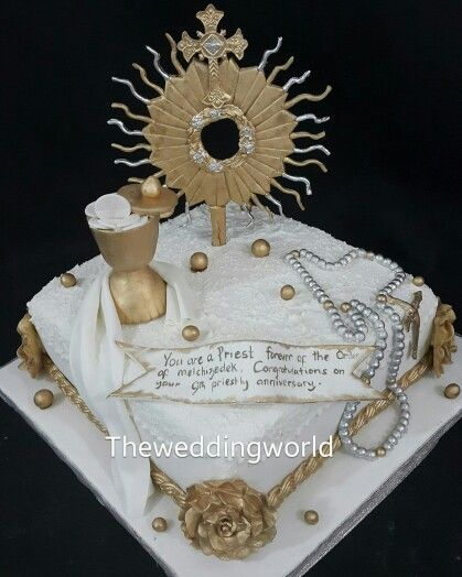 Cake for a Priest Anniversary | The Wedding World Cakes ...