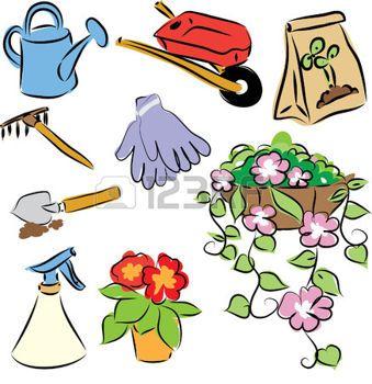 17 meilleures images propos de coloriage du potager sur for Dessin outils jardinage