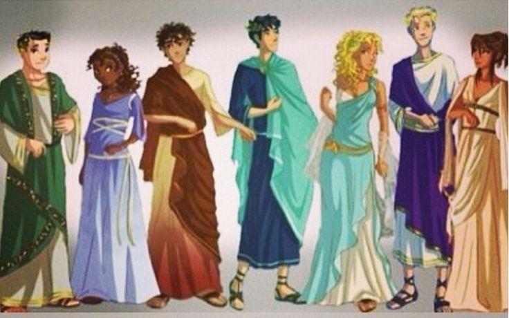 The Seven -- Frank, Hazel, Leo, Percy, Annabeth, Jason, and Piper