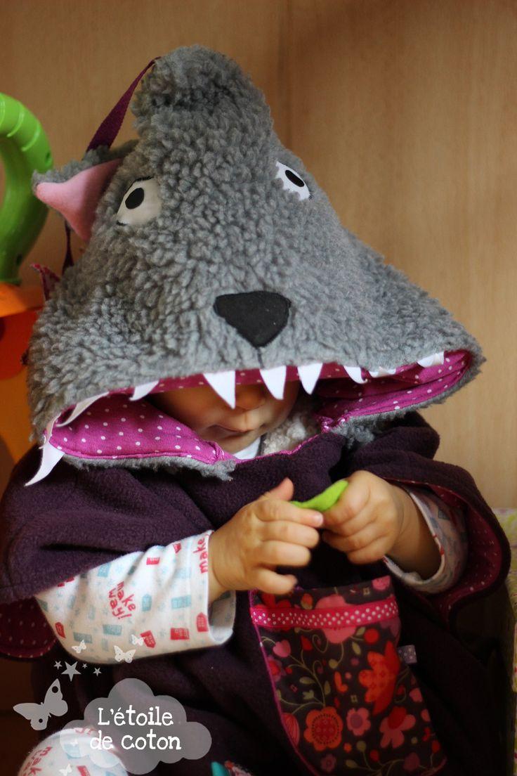 Cape loup enfant