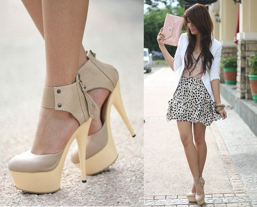 Love the outfit and especially the shoes!! Anyone know the brand?: Nude Shoes, Hot Shoes, Fashion Shoes, White Blazers, Style, Skirts, Cute Outfits, Dresses, Nude Heels