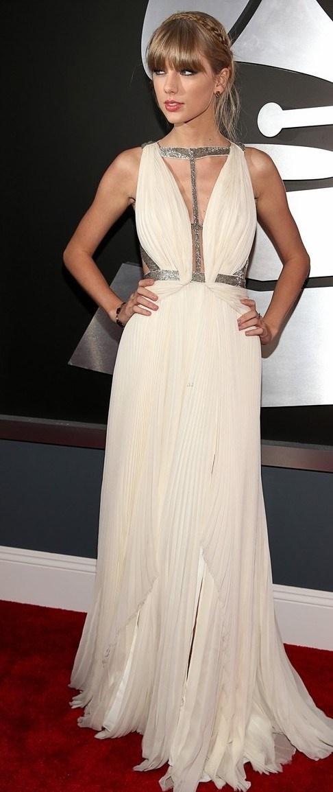 Taylor Swift in White J. Mendel.
