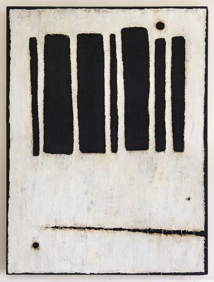 """IG119,"" black and white minimalist painting by artist Daniil Alikov 