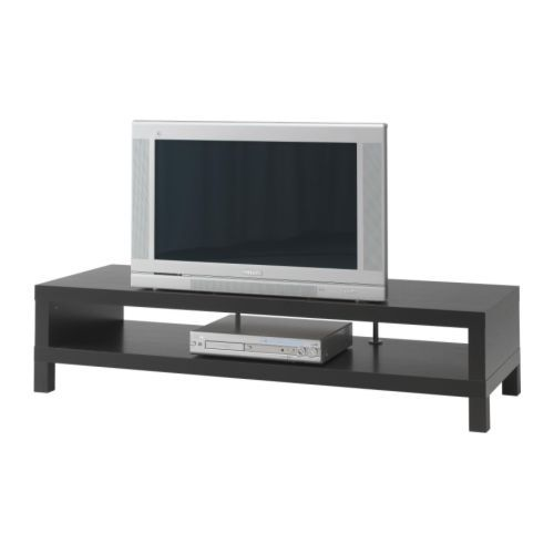 IKEA - LACK, TV unit, black-brown, , The opening at the back allows you to easily gather and organize all wires.