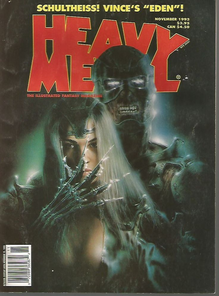 Heavy Metal NOV. 1993  Vol. XVIII #5 Comics Art Articles GREAT COMIC MAGAZINE