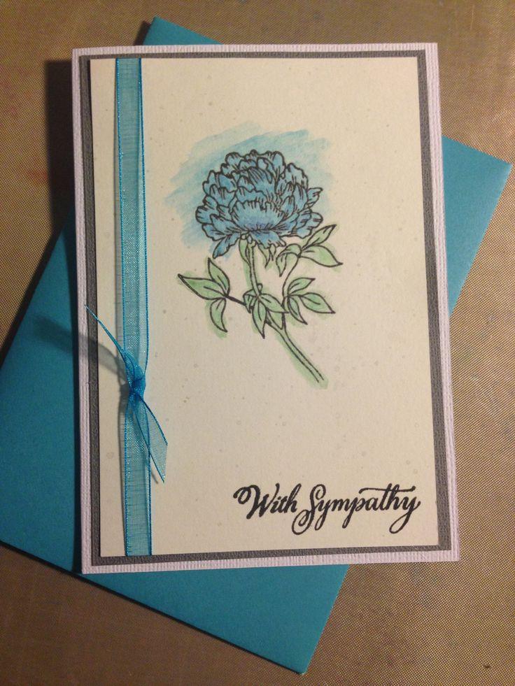 Watercolour Sympathy Card