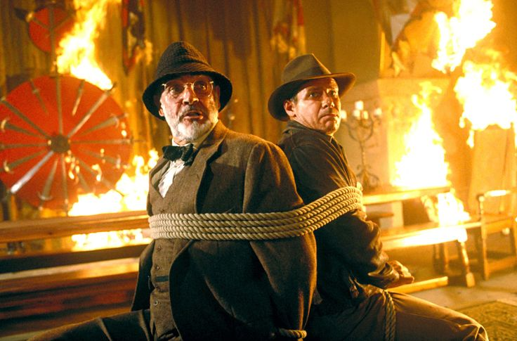 """Sean Connery and Harrison Ford play father and son in the movie """"Indiana Jones and the Last Crusade,"""" (1989). In real life, they are only 12 years apart in age"""