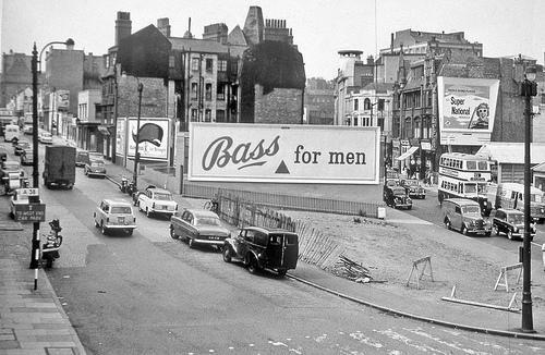 Suffolk Street & John Bright Street Birmingham, 1959 (Courtesy of Geoff Dowling)