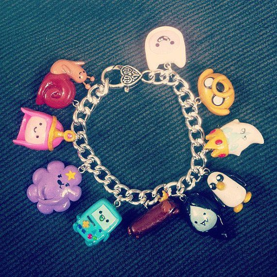 Adventure Time Charm Bracelet 10 charms-That's it..I HAVE to make this!!! lol.
