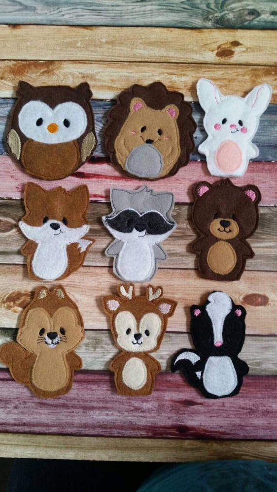 Forest Animal Toy Finger Puppet Woodland Amazing Doll Shows Quiet Toy Party Favorite Animal Kids Educational So Do
