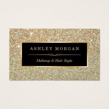 Makeup artist hair stylist funky gold glitter business card gold makeup artist hair stylist funky gold glitter business card gold glitter colourmoves