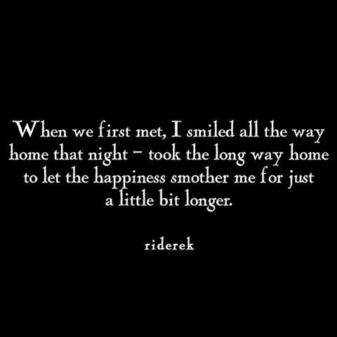 When we first met, I smiled all the way home that night - took the long way home to let the happiness smother me for just a little bit longer. @emmasusanno #TrueLoveisForever