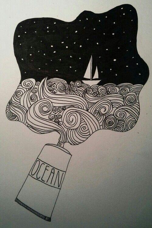 Ocean drawing                                                       …