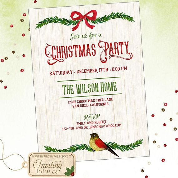 Best Christmas Invitations Images On   Christmas