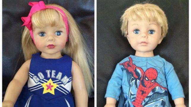 Нашла на новостном сайте интересную статью о переделке куклы American girl, люблю темы о преображениях и о счастливых детях со