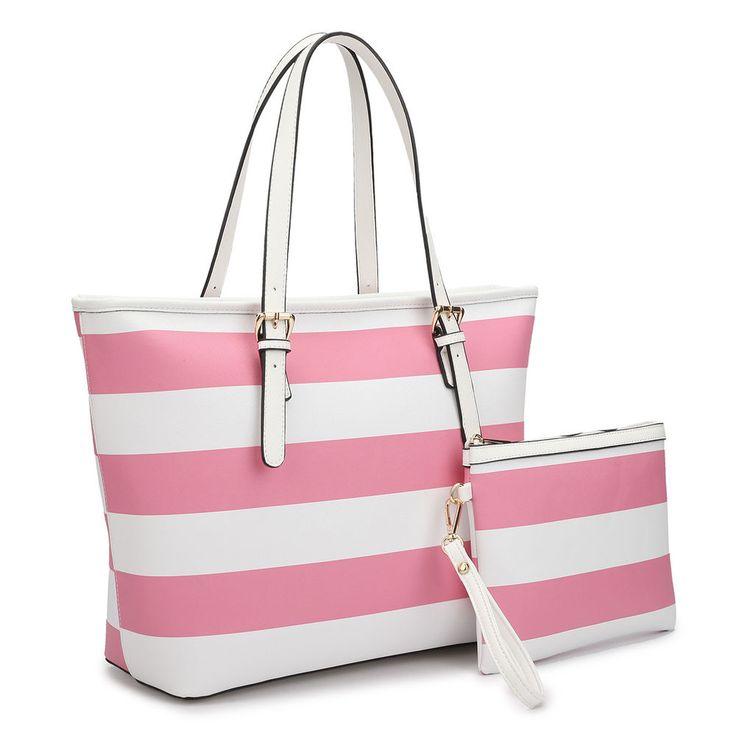 d291b4df1f8b6c New 2pcs Womens Handbags Faux Leather Satchel Shoulder Tote Shoulder Bag  Purses