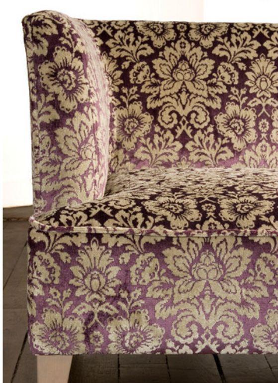 Amethyst Purple upholstered velvet couch