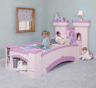 Castle Bed Woodworking Pattern   I LOVE THIS!!!!! I will try and convince my hubby to make it! lol