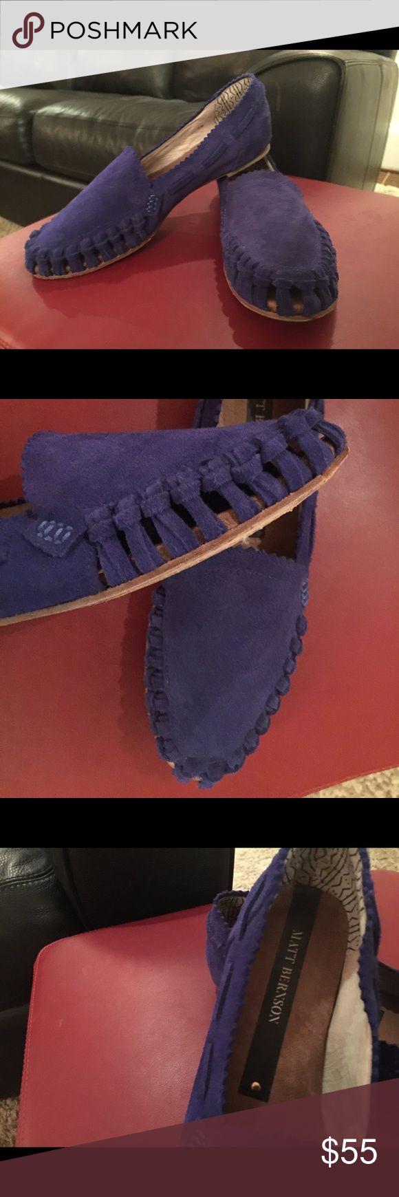 Matt Bernson blue suede loafers Matt Bernson blue suede loafers Matt Bernson Shoes Flats & Loafers