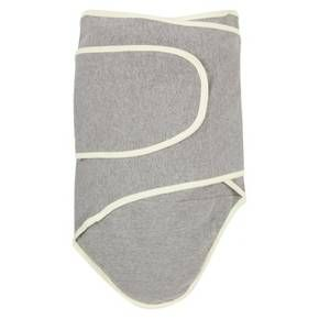 Miracle Blanket Solid Print with Trim Baby Swaddle - Cloud Grey/Pastel Yellow : Target
