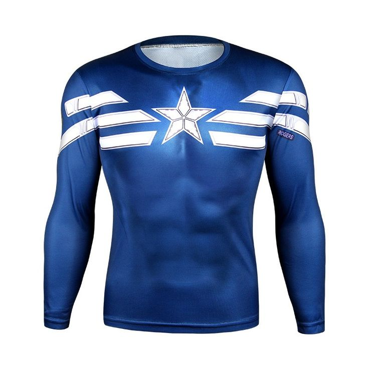 Captain America Long Sleeve T-Shirt //Price: $24.95 & FREE Shipping //