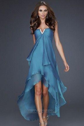 Sheath/Column Strapless Chiffon Homecoming dresses – IZIDRESSES.COM at IZIDRESS….