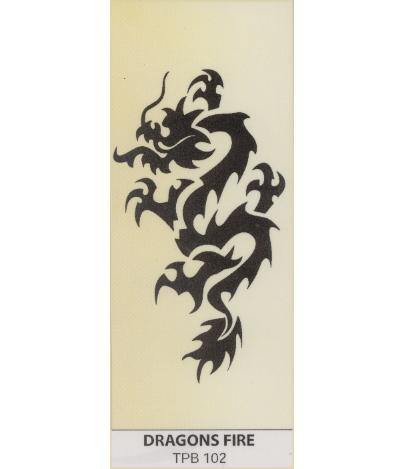 Tribal tattoo   temporary   Dragons Fire