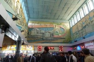 Teheran Railway station hall