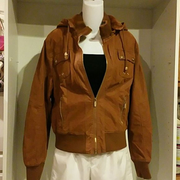 Suede Hoody Jacket by Palomares Sports size: 1X Womens hoody jacket. Brown or Camel color. New without tag. CP Palomares Sports Jackets & Coats