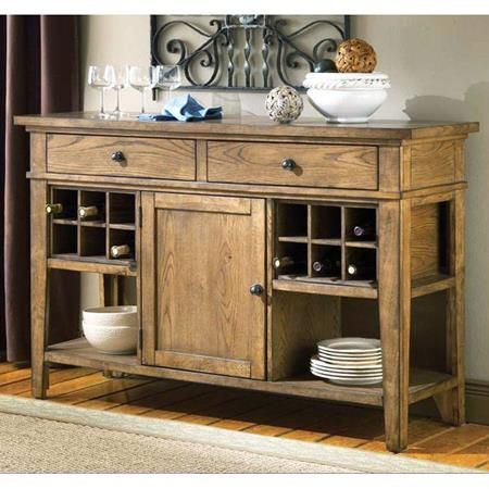 Buffet cabinet with wine rack woodworking projects plans for Table buffet