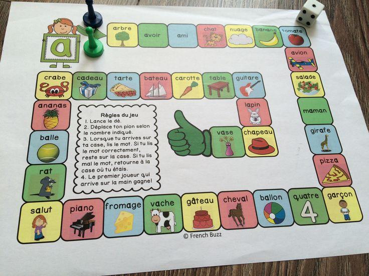 """Jeu de société amusant pour pratiquer la lecture des mots avec le son """"a""""."""