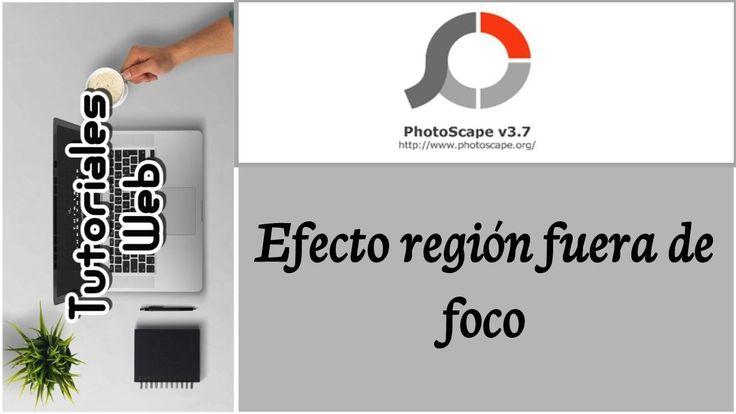 PhotoScape 2017 - Efecto región fuera de foco (español)