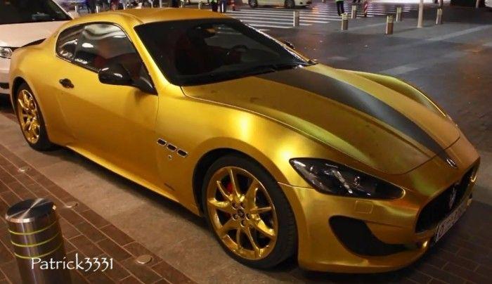 Gold Wrapped Maserati Gran Turismo Spotted In Dubai