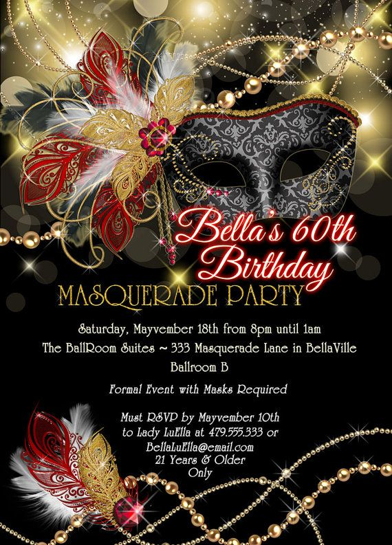 17 Best ideas about Masquerade Party Invitations on Pinterest ...