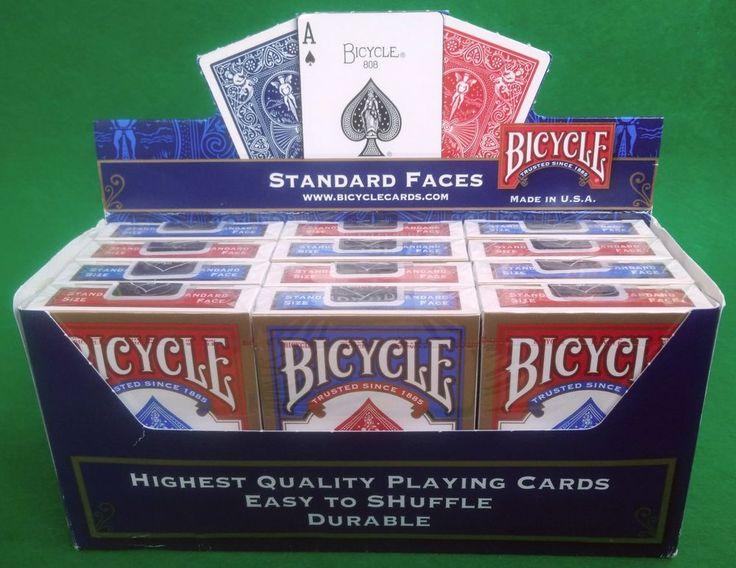 12X BARAJAS DE CARTAS DE POKER 808 BICYCLE STANDAR 6X ROJO Y 6X AZUL REF:1