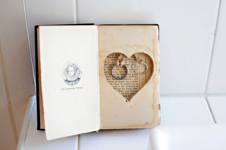 Wedding Rings, Ring Bearer Book, Rustic wedding, made by Amber and Will Handmade