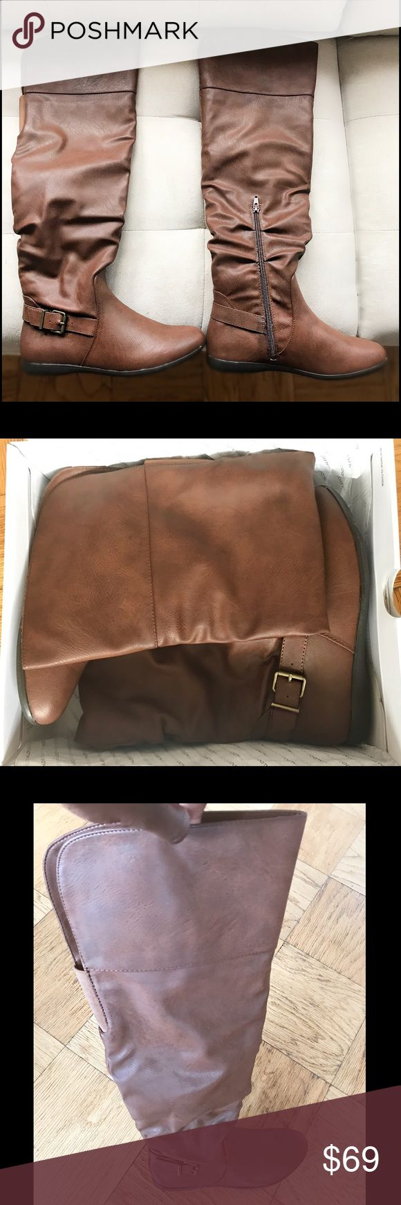 Chocolate Brown Over the Knee Flat Boots BRAND NEW in box.  Never been worn or tried on. 🔥 Aldo Shoes Over the Knee Boots