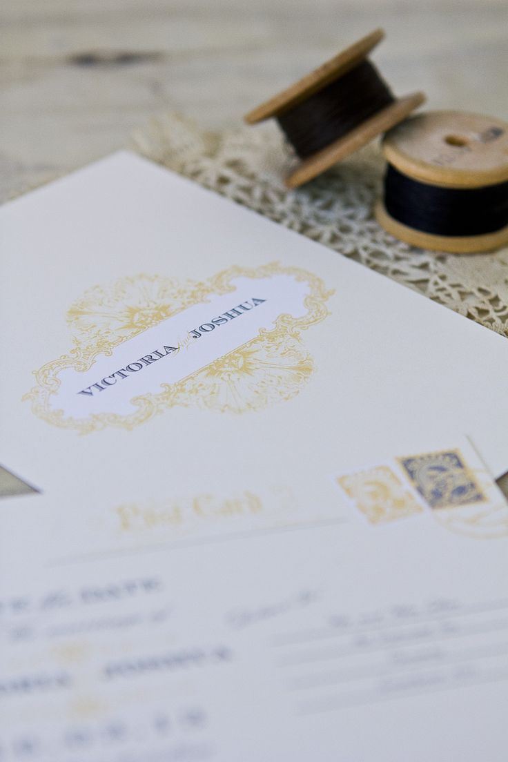 Reinforce your antique elegance theme with motifs sprawled across invitations and wedding stationery. New Zealand Weddings Magazine, Winter 2012 issue. Photography by Amanda Thomas.