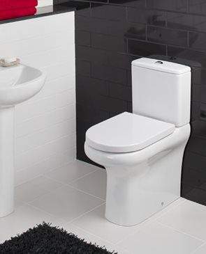 RAK Ceramics Compact Deluxe 45Cm High Close Coupled Fully BTW WC Pak With Wrap Over Urea Seat And Schkits6 comes with high quality construction and design, available at low price and fast delivery for all toilet at bathroomand.co.uk.