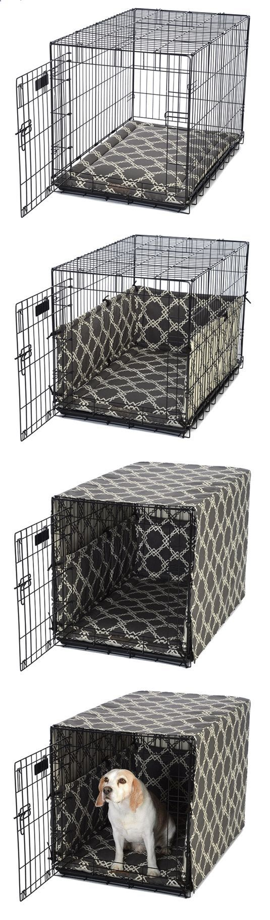 Dog Crate Cover and Padding Set · FelixChien.com: