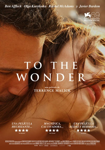 To The Wonder- Terrence Malick - the most incredible movie I have seen...totally touched my soul!