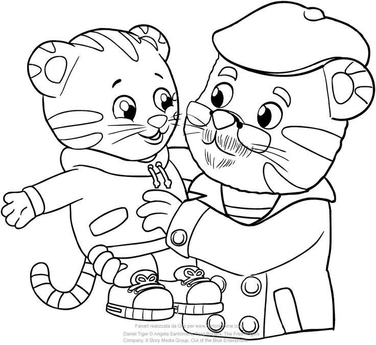 Image result for daniel tiger coloring pages