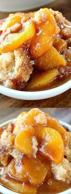 When you bake this Fresh Peach Cobbler recipe from Great Grub, Delicious Treats the smell in your kitchen will be unbelievable! The mixture of the peaches, with the cinnamon and the juices smell SO GOOD!!