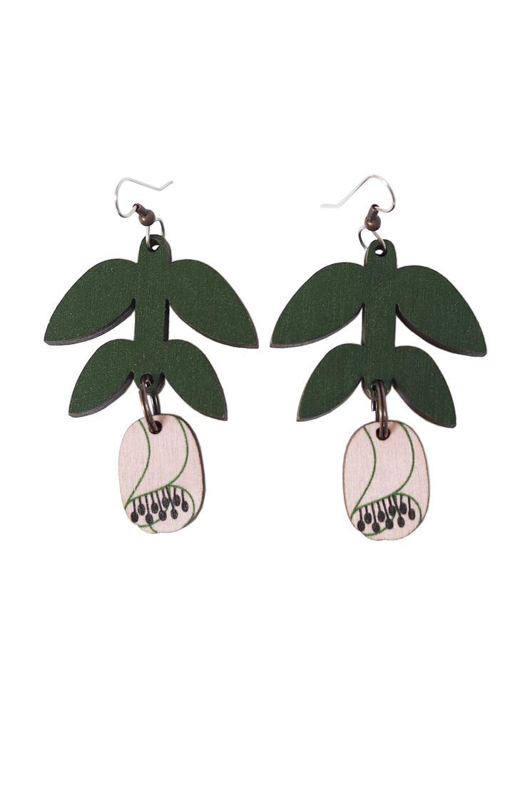 LEINIKKI EARRINGS - GREEN&PINK