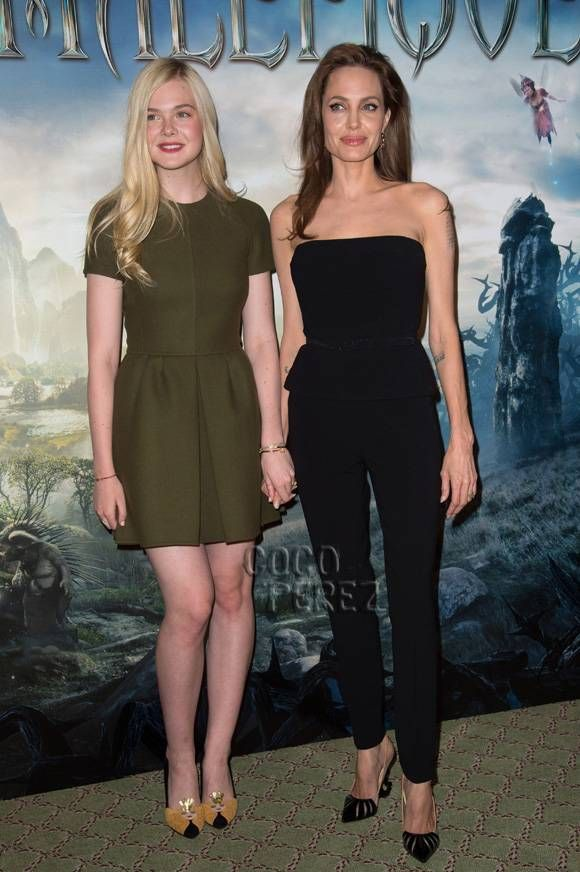 I am soo excited to see this movie! Angelina Jolie kicked off the Maleficent press tour with Elle Fanning today!