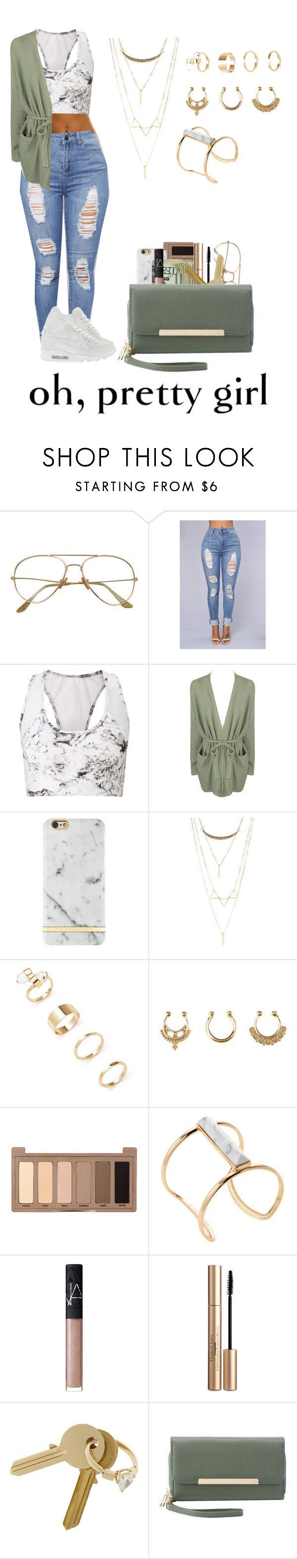 """""""9th grade"""" by life957 ❤ liked on Polyvore featuring Varley, One Grey Day, NIKE, Richmond & Finch, Charlotte Russe, Forever 21, Urban Decay, Soo Ihn Kim, NARS Cosmetics and Elizabeth Arden"""