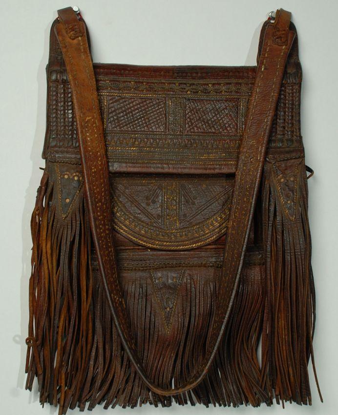 ☯☮ॐ American Hippie Bohemian Boho Style ~ Fringe Leather Vintage Bag