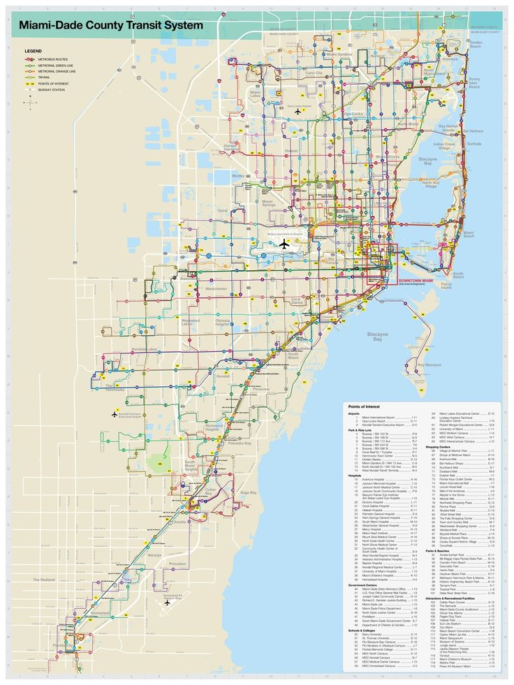 "Information about ""Miami Dade Transit System Map.jpg"" on metrobus - Miami - LocalWiki"